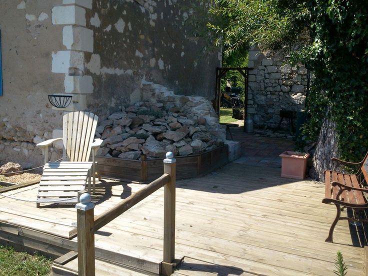 Plenty of room on the decking to relax. Pick a book from our collection, and relax!