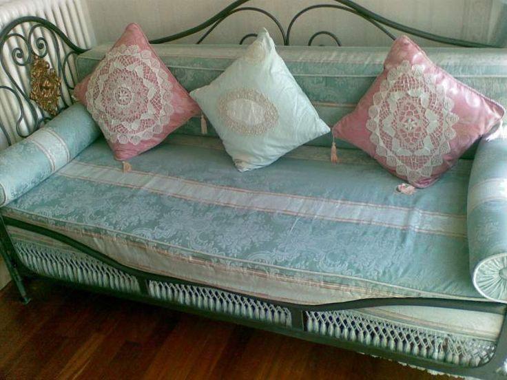 Antico divano/letto in ferro battuto