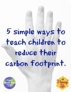 A way to use the fingers on your hand that will help you and your children reduce your families carbon footprint.