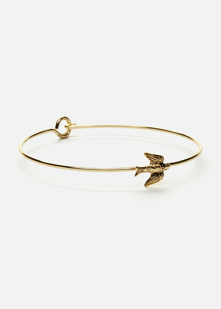 Gold Sparrow Bangle