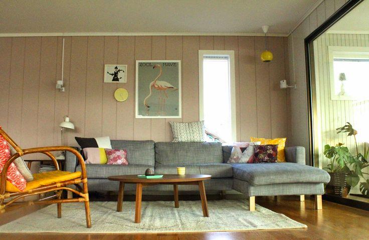 ..Pynt: stue i vårfarger.. fra interiørblogg