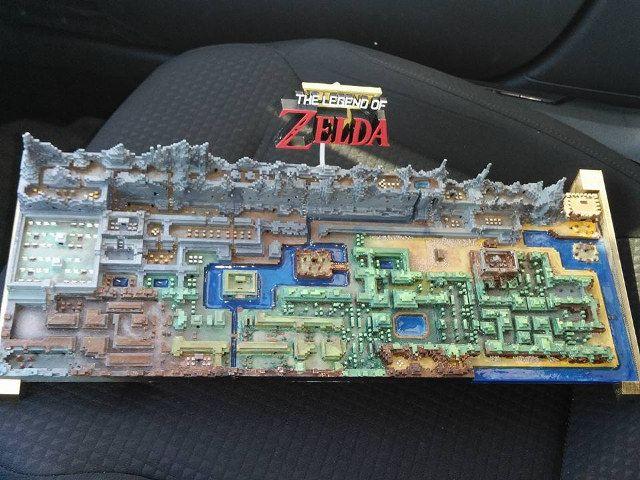 Legend of Zelda 3D Printed Overworld Map