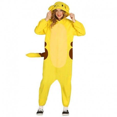 Disfraces Personajes | Disfraz de Pikachu. ¡El más famoso de los Pokemons está aquí! El pikachu amarillo de toda la vida. Contiene buzo de cuerpo entero con cola y cabeza capucha. Talla M/L. 19,95€ #pikachu #pokemon #pokemons #disfrazpokemon #disfrazpikachu #disfraz #disfrazpersonaje #disfraces