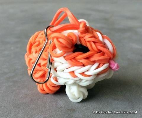 Rainbow Loom Charm - Zipper Pull - Charm - Guinea Pig - Loom Charm - Loom Band - Bracelet - Necklace Charm - Rainbow Loom #rainbowloom #zipperpull #charm #dzcrochetcreations