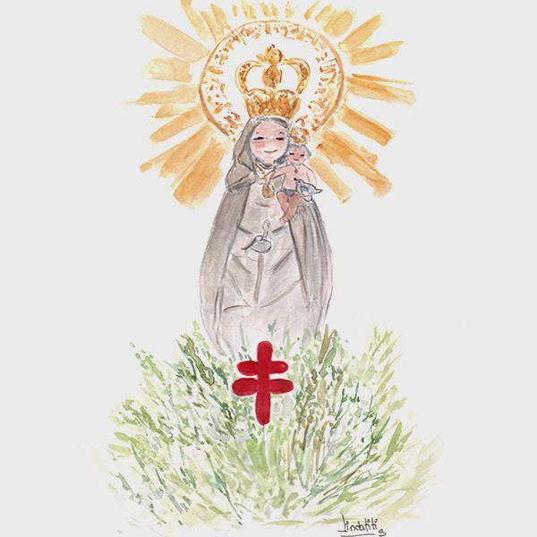 Pin De Paloma Noriega En Imagen De Santos Imagen Virgen Del Pilar Ilustracion Acuarela Virgen