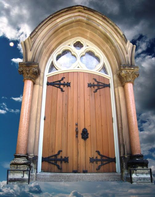 The Art of Valerie Biebuyck: Doors Reconstituted. Worship in the Clouds SOLD