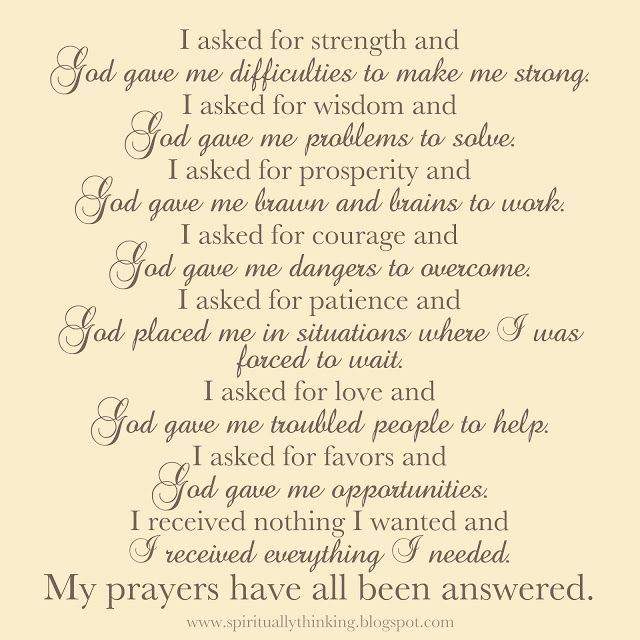 How God answers prayers. I love this prayer! #quote #saying #prayer #faith #god