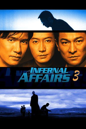 Infernal Affairs III (2003) | http://www.getgrandmovies.top/movies/15275-infernal-affairs-iii | Infernal Affairs III is a 2003 Hong Kong crime thriller film directed by Andrew Lau and Alan Mak. It is the third installment in the Infernal Affairs film series, and is both a sequel and a semi-prequel to the original film, as it intercuts events before and after the events in the original.