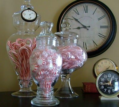 display candy in glass jars