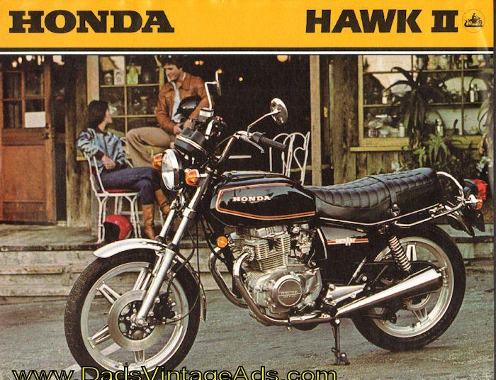 1979 honda hawk ii cb400t 2-page brochure sun & fun motorsports