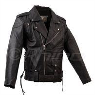 Leather Motorcycle Brando Jacket with Vents