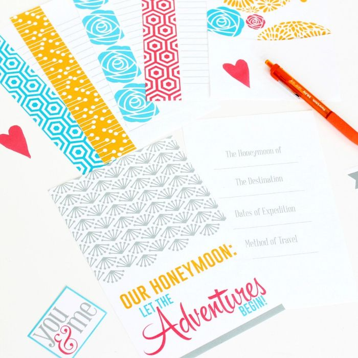A darling honeymoon kit to celebrate the new Mr. and Mrs.!