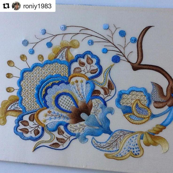 @roniy1983 #needlework #handembroidery #bordado #ricamo #broderie #embroidery