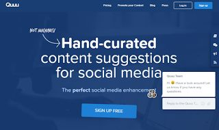 Hand-curated content suggestions for social media