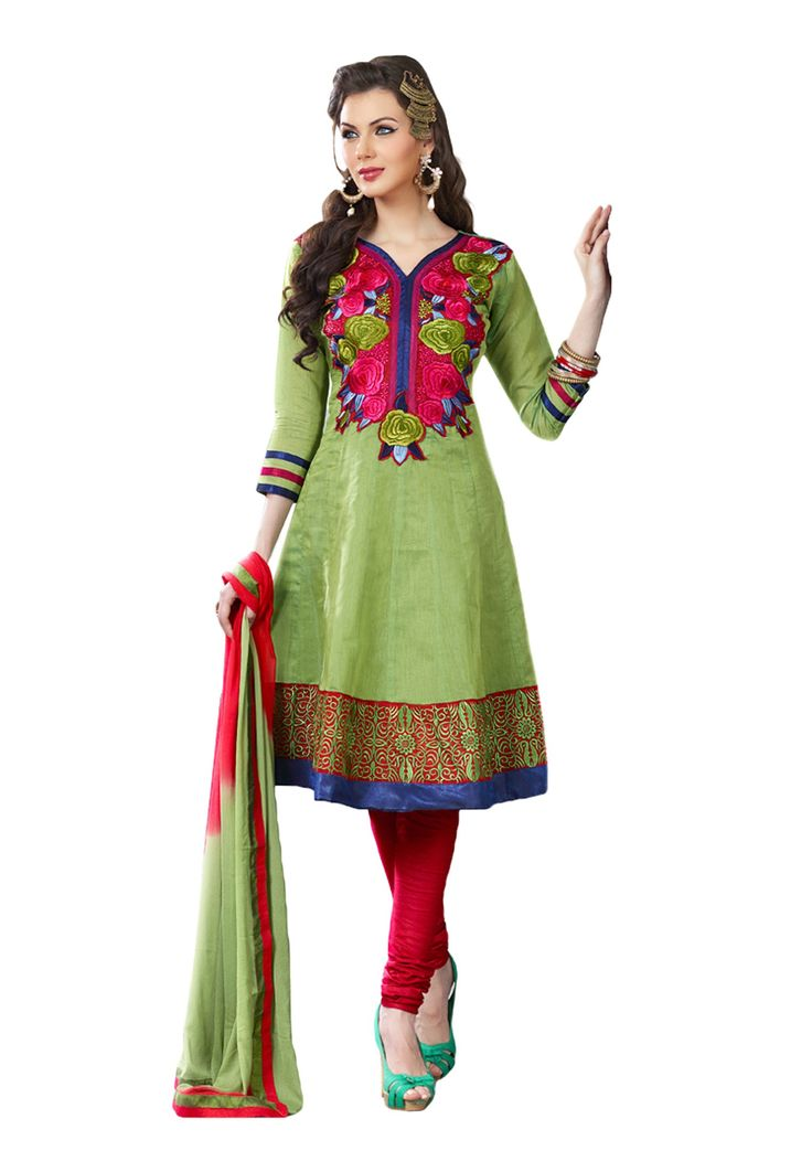#Pure Cotton Embroidered #Salwar suit Presenting a cool cotton fabric salwar suit for special gathering! It is the perfect attire for all fashion conscious women for present generation. One can appeal flattering views through this awesome suit as you step in a grand occasion. The material quality assures to give majestic feel as desired. Available in 14% Discount @aimdeals