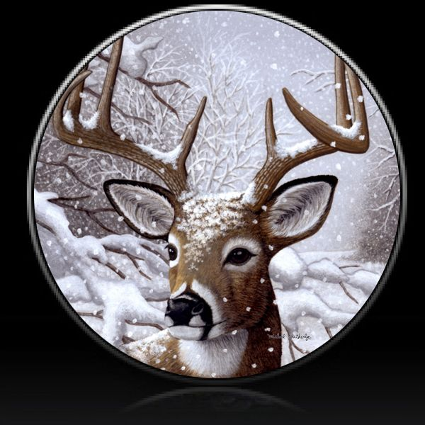 Deer Winter Buck Spare Tire Cover Spare Tire Covers Custom Tire