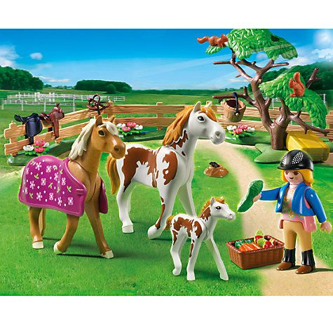 Buy Playmobil Country Paddock with Horses and Foal Online at johnlewis.com