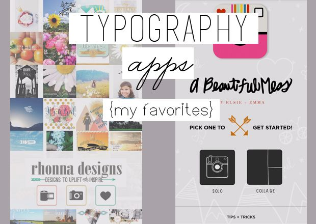 {Typography} My favorite Apps