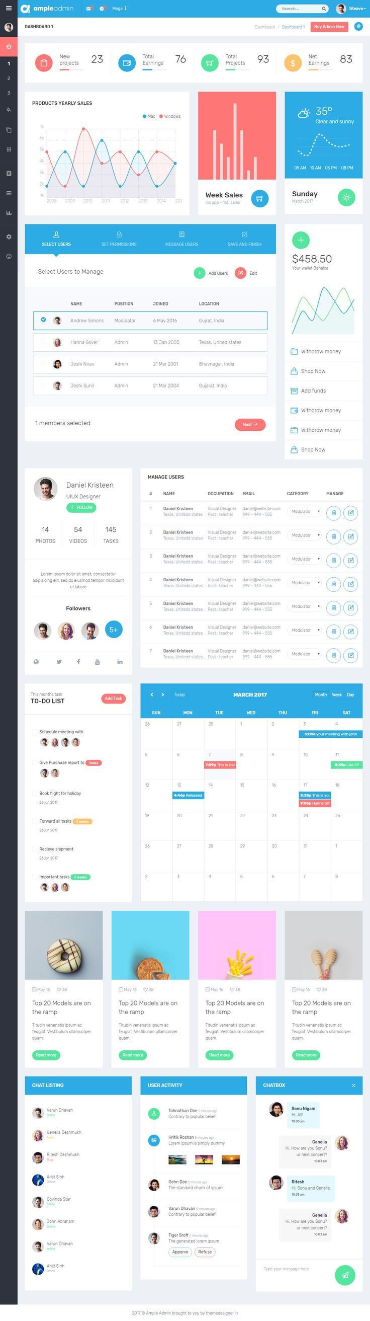 Ample Admin is Premium full Responsive #AdminDashboardTemplate. #AngularJS. If you like this template visit our handpicked list of best #MaterialDesign Templates at: http://www.responsivemiracle.com/best-responsive-material-design-template-html5/