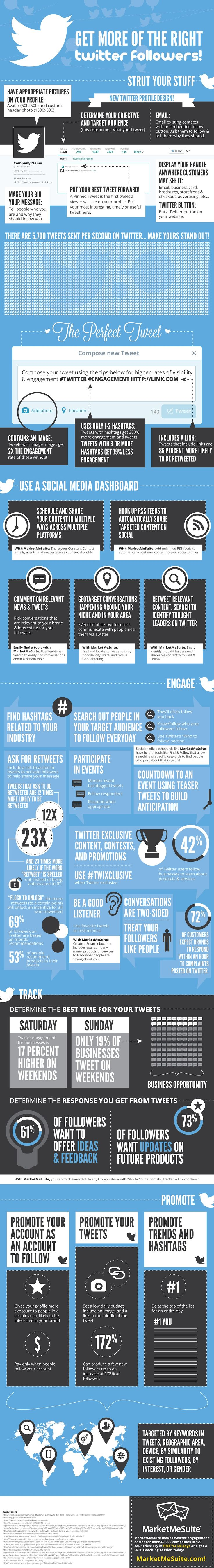 Get more of the right #Twitter followers! - #SocialMedia #Infographic