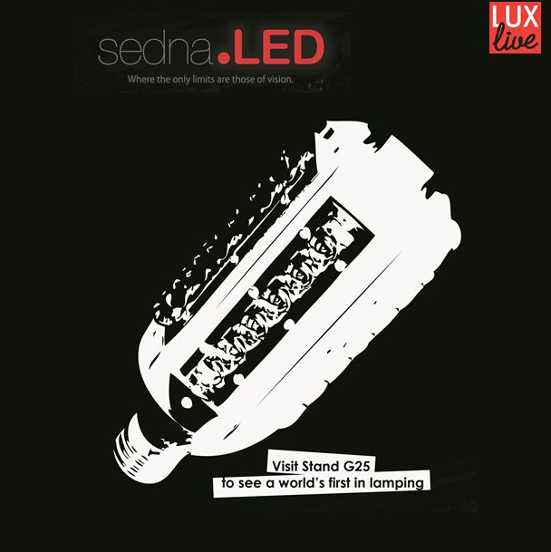 Sedna are exhibiting at #LuxLive this week. To keep up with the latest from the event follow us on Twitter @Sedna LED. We will be live tweeting about all of the goings-on at Earl's Court and stand G25.
