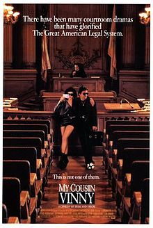 My Cousin Vinny // Directed by	Jonathan Lynn  Produced by	Dale Launer  Paul Schiff  Written by	Dale Launer  Starring	Joe Pesci  Marisa Tomei  Ralph Macchio  Mitchell Whitfield  Fred Gwynne  Music by	Randy Edelman  Cinematography	Peter Deming  Editing by	Stephen E. Rivkin  Distributed by	20th Century Fox  Release date(s)	  March 13, 1992