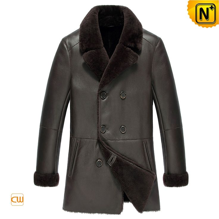 Measure to Made: Napa Leather Shearling Sheepskin Coat Mens CW851288 - www.cwmalls.com  Our smooth Napa finish leather shearling sheepskin coat for men, warmth sheepskin coats with soft shearling lining and classic double breasted style! Best leather sheepskin coat will keep you warm and dry regardless of the weather!