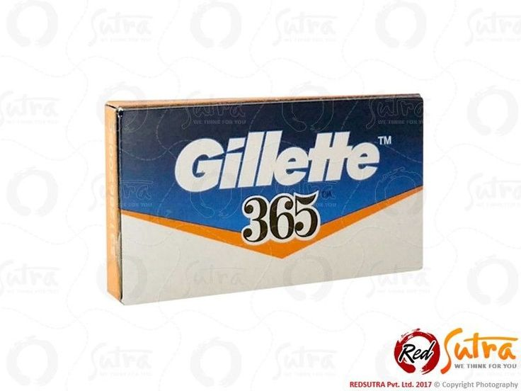 100 Gillette 365 Double Edge Safety Razor DE Shaving Blade 100% Orignl Razor #Gillette
