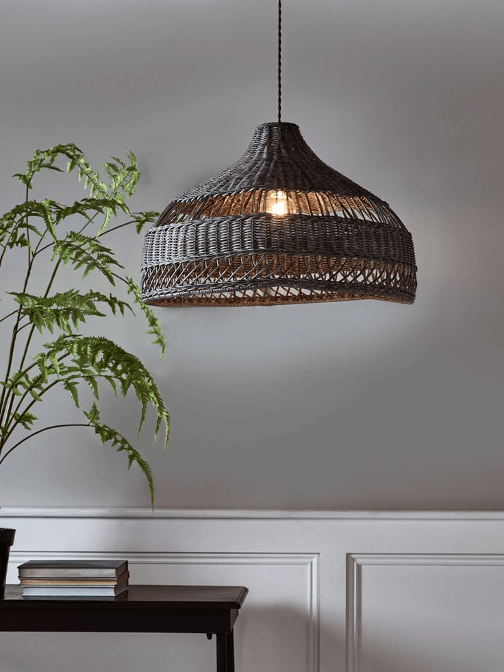 NEW Woven Rattan Shade - Grey