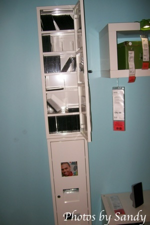 A locker. I'd use this for my office and get those fun locker accessories that are sold at back to school sales.