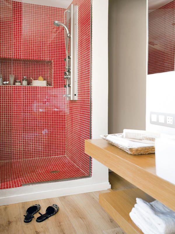M s de 1000 ideas sobre decoraci n cuarto de ba o rojo en - Gresite banos precios ...