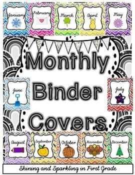 FREE Monthly Binder Covers and Spine Labels