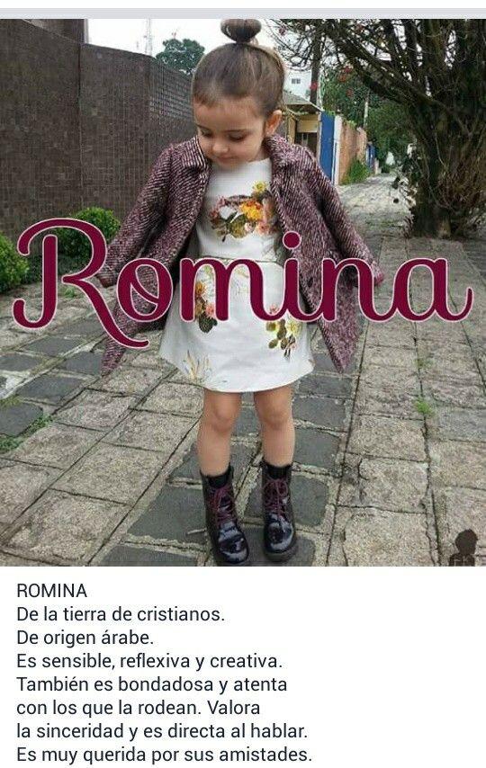 Nombres de niñas, significado del nombre Romina
