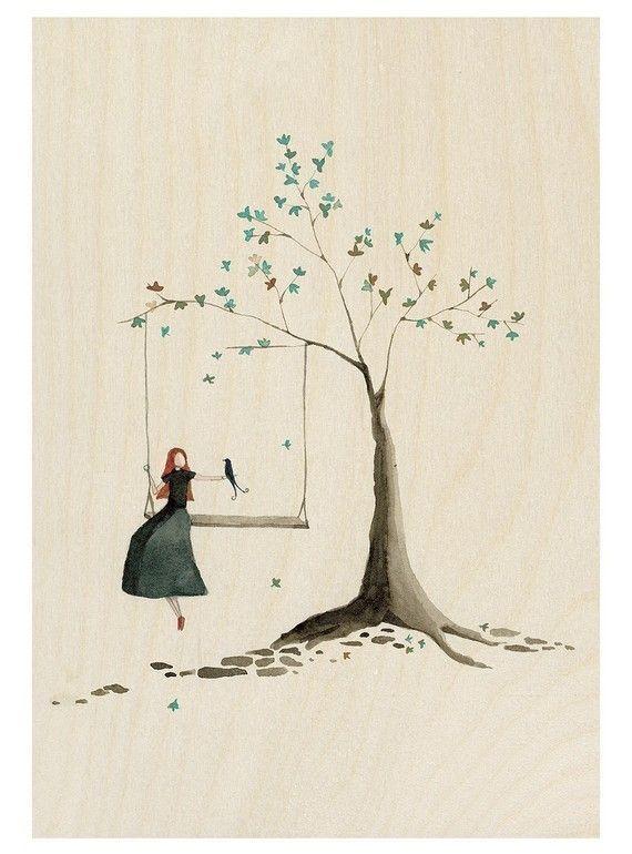 #Donneinarte per #DonneEAltalena ©Alessandra Coscino #Storify: La bambina e l'altalena -José Saramago Accompagnarono la bambina all'altalena e la lasciarono sola. Non era uno di quei comuni giochi...