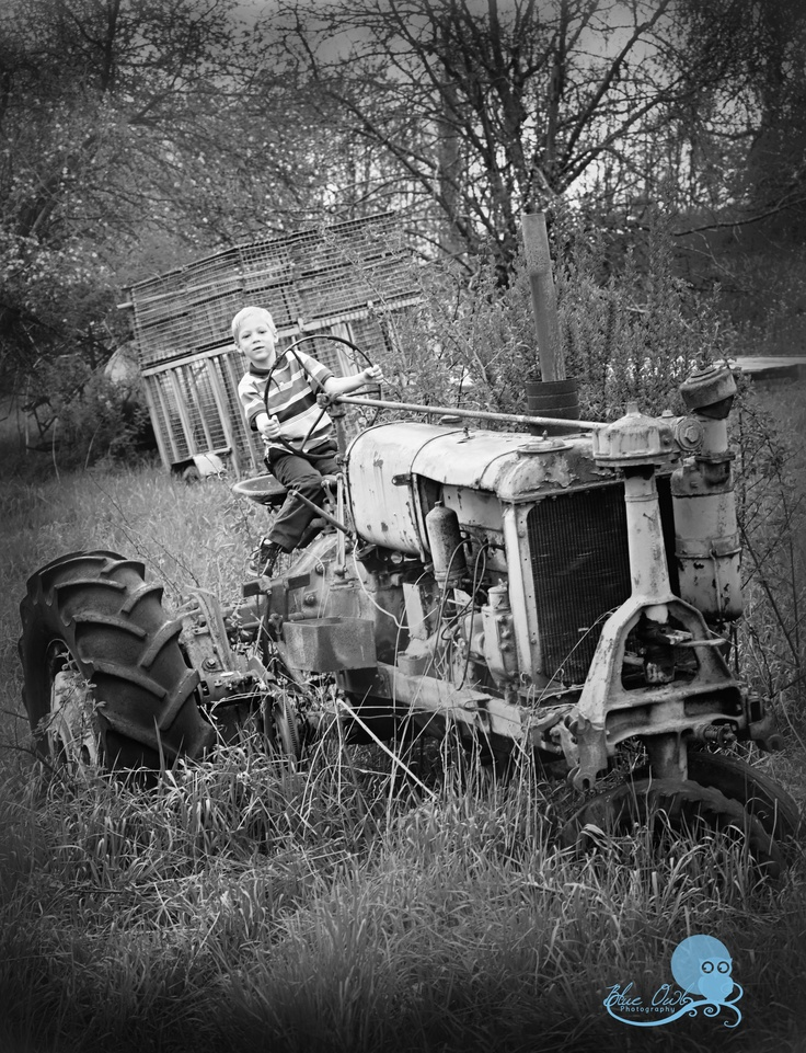 Black and White old Tractor | Tractor | Pinterest | Old ...