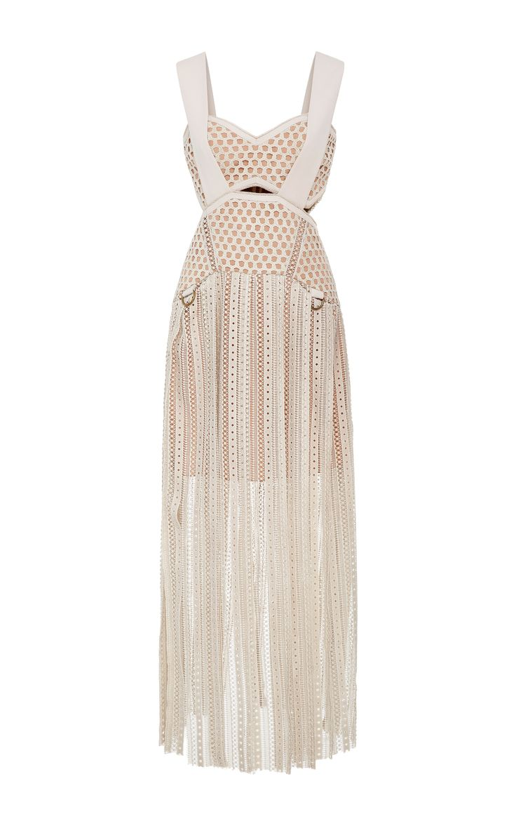 Self Portrait Avery Fringe Cutout Dress