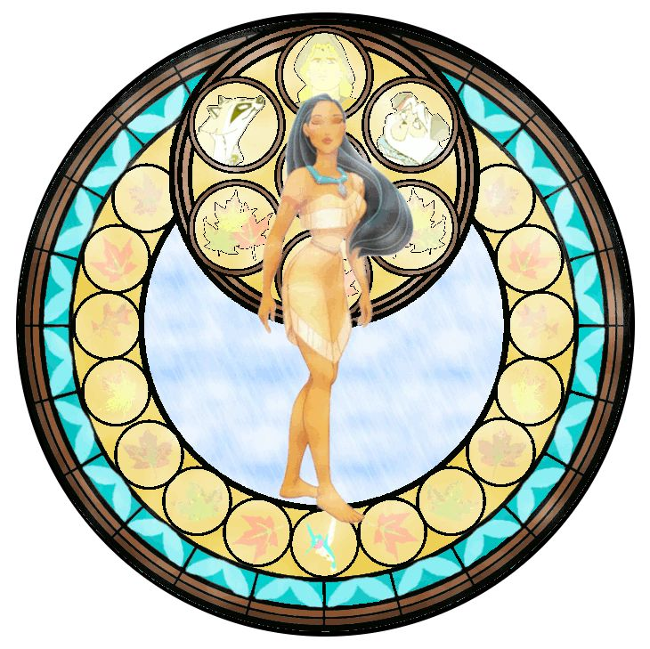 Pocahontas Stained Glass - disney-princess Fan Art