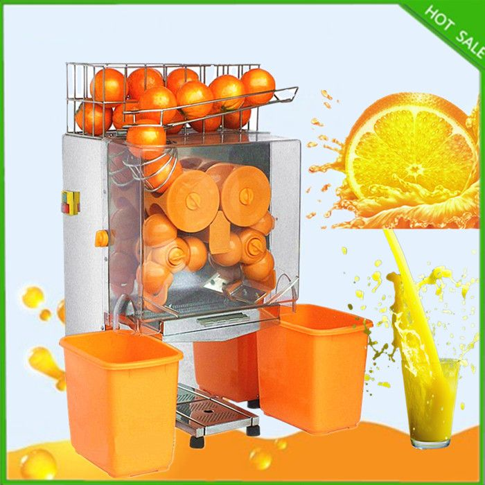 2016 new free ship Stainless Steel Automatic Slow Juicer Electric orange Juice Machine Cold Press Extractor fruits Squeezer