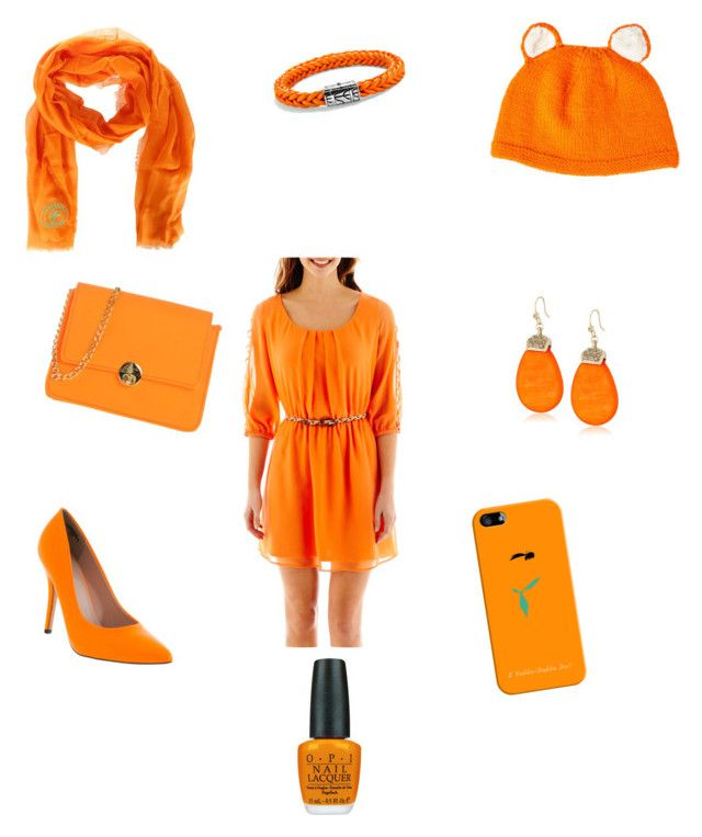 """""""ORANGE!"""" by kalliegilbart on Polyvore featuring My Michelle, Camomilla, Dsquared2, Casetify, John Hardy, Kenneth Cole and OPI"""