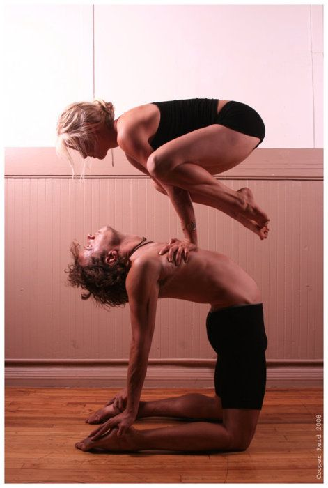 Acro Yoga-- or possible position to get into when having a serious discussion with Jared. Forced higher level of communication! :)