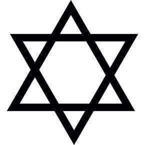 Base da mesa Estrela de David, símbolo do judaísmo - Star of David, symbol of judaism