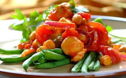 Chicken Casserole with Chickpeas