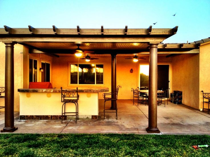 Perfect Southern California Patios   SOLID PATIO COVERS