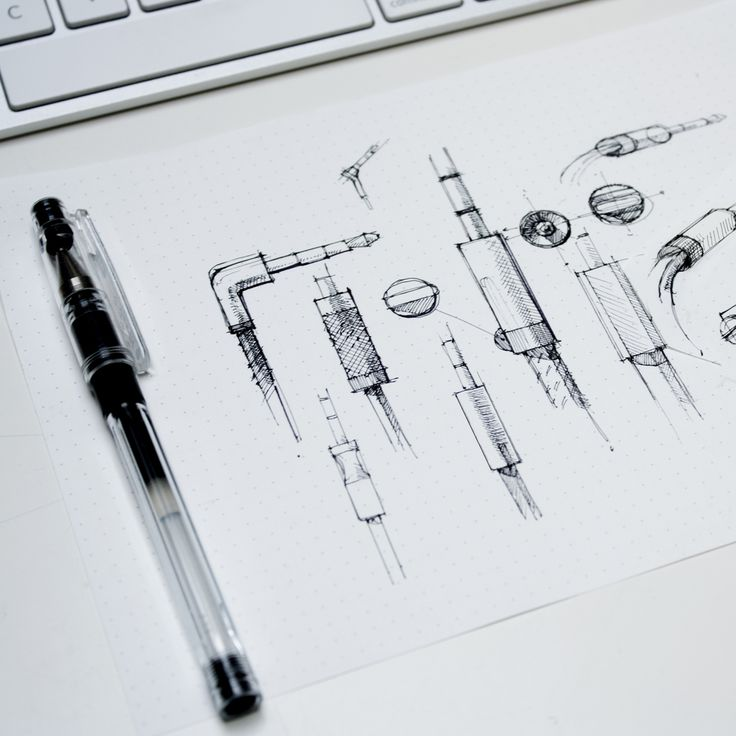 Sketching while rendering.