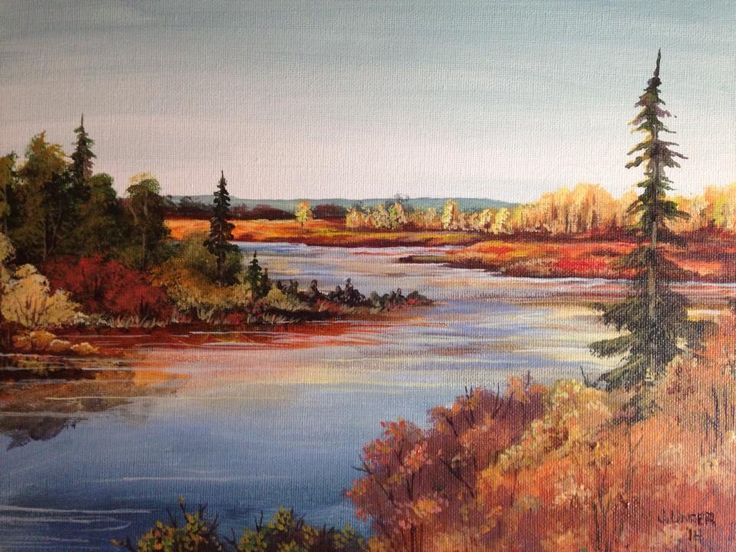 Autumn Splendor by Jen Unger Acrylic on canvas