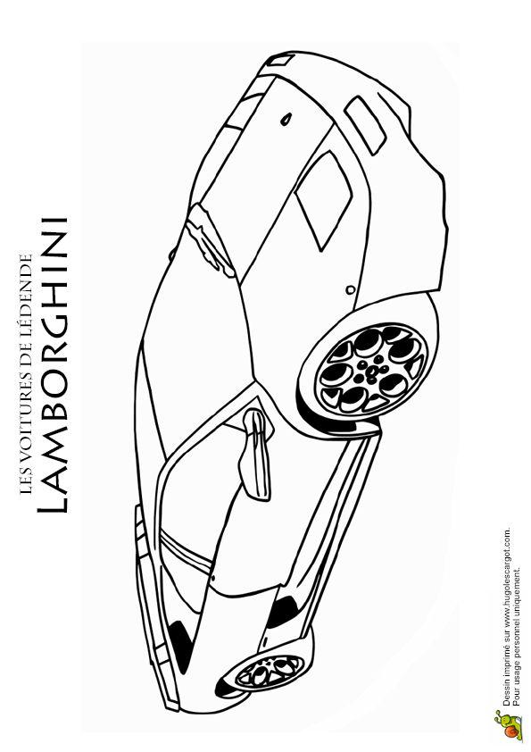 104 best images about coloriages de voitures on pinterest - Lamborghini a colorier ...