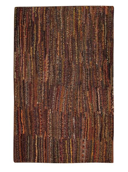 Dreamweavers Executive Ribbon Rug at MYHABIT (I could make something similar with a latch hook and a large pile of old neckties or wool strips, in a smaller size than this one._