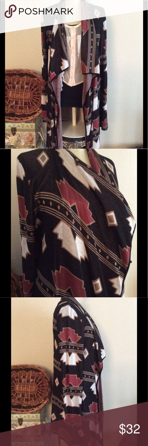 💥GUESS Boho American Tribal Long Cardigan Guess American Indian Tribal Print Cardigan, soft and lightweight. Super cute, on trend, immaculate Like New condition, size XL would fit Med to Large as well (almost a one size) Guess Sweaters Cardigans