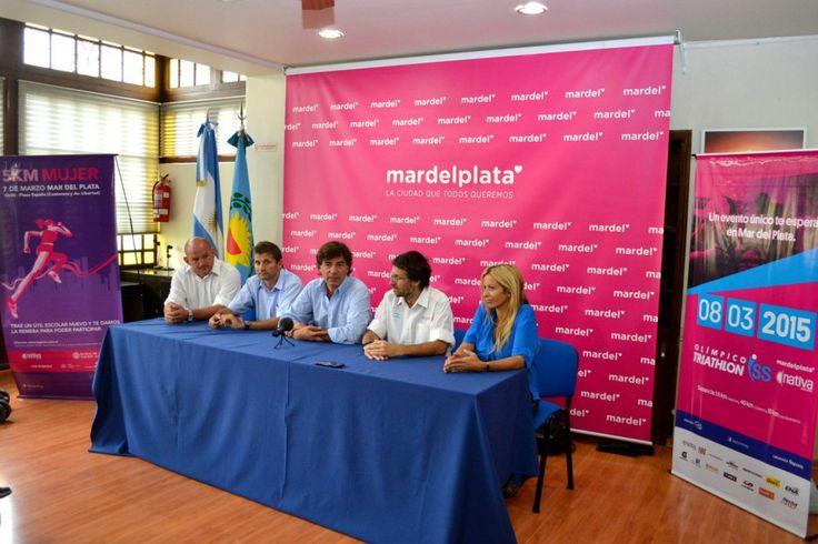 """""""Presentaron la Carrera """"5K de la Mujer"""" y el """"Triatlón Olímpico Mar del Plata 2015"""""""