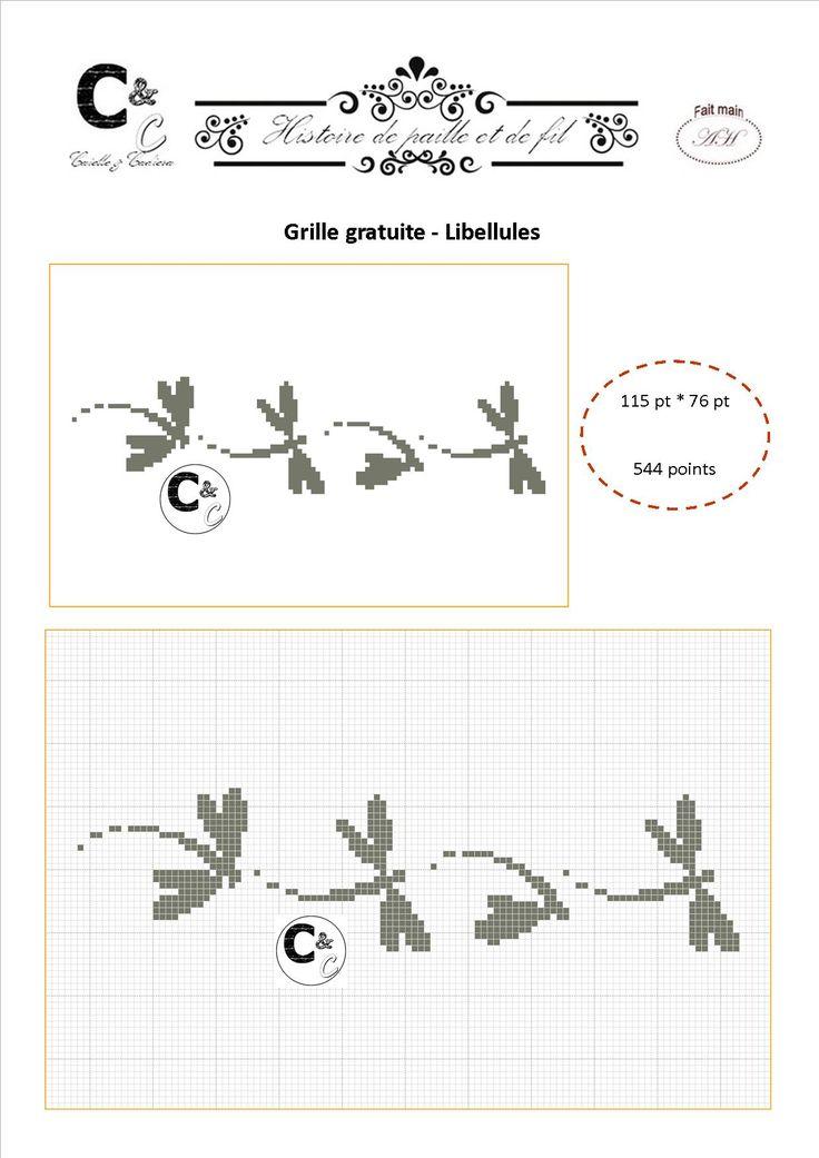 Grille gratuite - Farandole de libellules